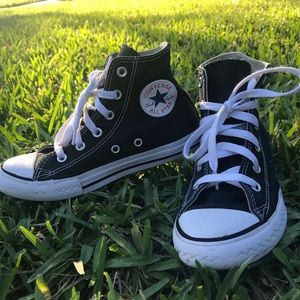 Converse Kids Black High Tops Size 1